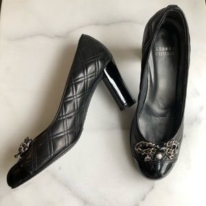 Stuart Weitzman Quilted Leather Pumps